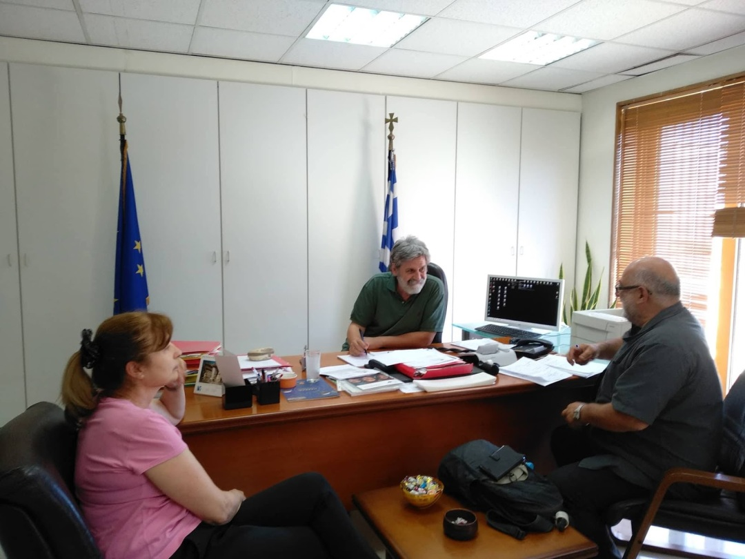 Ο επικεφαλής των Πολιτών σε Δράση Θοδωρής Σπηλιόπουλος, μετά από αίτημά του, συναντήθηκε σήμερα 29/6/2018 με το Γραμματέα Δημόσιας Περιουσίας Θανάση Δημάκη.